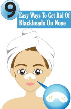 Here are a few easy ways listed to get rid of those blackheads for a beautiful face.