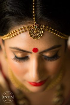 Bridal Wear - The Bride Komal! Photos, Hindu Culture, Beige Color, Make Up, Bridal Makeup, Mangtika pictures, images, vendor credits - Anita Dongre Timeless, Shyamal and Bhumika, Anushree Reddy, WeddingPlz