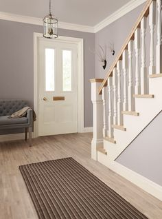 Smoke & Mirrors from our super scrubbable Hall & Stairs range. Tough new formula stands up to the knocks and scuffs of family life and can be easily cleaned to be returned to looking freshly painted!