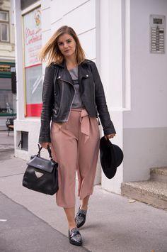 Herbst-Outfit: Sprüche-Shirt*, Culotte und Hut - Gscheade Leibal - ned du schau wieda
