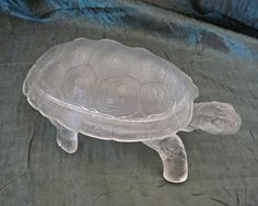 1935 Satin Art Glass Covered Turtle Box. Starting at $50