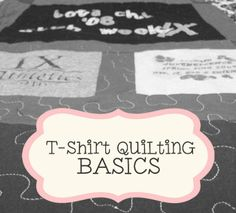 T-Shirt Quilting BASICS, for the kids team & practice shirts plus jerseys I've kept for them all these years!
