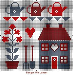 """ONE OF A KIND: JUNE """"CROSS Stitch-Wzorcownia"""" - Ria Lanser."""