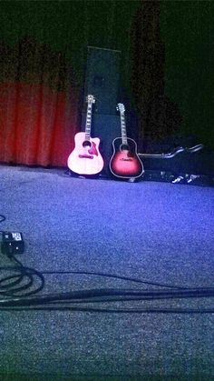 Lee's guitars: pic taken by Shelly