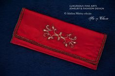 Passional cherry red - embroidery purse