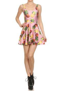 Pineapple Skater Dress - POPRAGEOUS  - 1