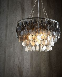 Round glass chain chandelier round glass chandeliers and rounding ombre capiz 2 light chandelier mozeypictures Gallery