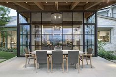 Guides to Choosing A Glass Door Design That'll Fit Your House - Hot Windows - Door Design, Exterior Design, Contemporary Architecture, Architecture Design, Steel Doors And Windows, Br House, My Dream Home, New Homes, House Styles