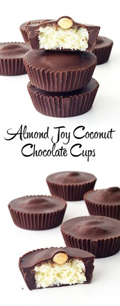 Easy to make Almond Joy Coconut Chocolate Cups that tastes even better than the real thing   Sweetest Menu