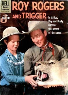 Roy Rogers and Trigger - Russ Manning art Rogers Tv, Roy Rogers, Star Comics, Old Comics, Vintage Comic Books, Vintage Comics, Stuttgart Arkansas, Sylvester The Cat, Dale Evans