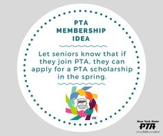#MembershipTip: Let seniors know that if they join PTA, they can apply for a PTA scholarship in the spring. #carrythecard #beapartofchangeandtakeaction