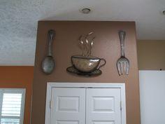 Kitchen decor. Got these cool pieces at Kirklands Home decor.