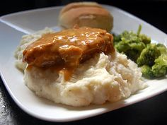 Crock Pot Ranch Pork Chops -- but I'll use  cream of mushroom soup