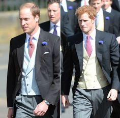June 22, 2013   Prince WIlliam and Prince Harry, groomsmen, at the wedding of their friends, Lady Melissa Percy and Thomas van Straubenzee.  Unfortunately, Duchess Catherine, who is weeks away from giving birth was unable to attend.