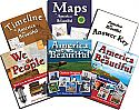 America the Beautiful Curriculum Package - A one-year complete U.S. History curriculum for 5-8 grade students. Includes: text, timeline & map activities, and book of original source texts.