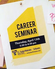 Join us at our North Office, 10351 Dawsons Creek Building 4, Suite D on April 13th for a Free Career Seminar. We will go through the fast-paced and rewarding work of being a real estate agent. You will find out the cost involved, top of the line schooling choices, and what it takes to have a career in real estate. #fctuckermalcolmschlueter #fortwaynejobs #followforfollow #followus Find out more go to mstuckerftwayne.com/about/careers Real Estate Jobs, School Info, We Are Hiring, Looking For A Job, What It Takes, Job S, Choices, Career, Building