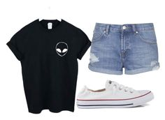 """Lazy day"" by tayjayne8 on Polyvore featuring WithChic, Topshop and Converse"