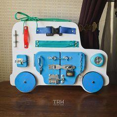Busy Board, Wooden toys, Activity Board, Sensory Board, Montessori educational Toy, Wooden Toy, latch board