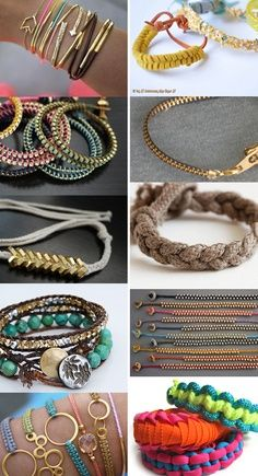 10 DIY Hipster Bracelets via smallforbig #DIY #Bracelets