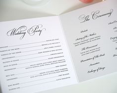 Wedding Program Templates | Circle Monogram Wedding Ceremony Programs - Wedding Programs by Shine