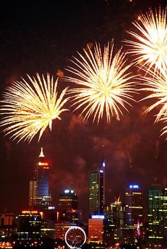 Perth fireworks Australia Day - Western Australia