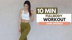 10 MIN GANZKÖRPER Workout für Zuhause / ohne springen / Muskeln definier... At Home Workouts, Youtube, Get Ripped, Home Workouts, Youtubers, Youtube Movies, Home Fitness