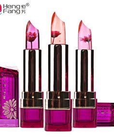 New brand HengFang Black Chrysanthemum Lipstick Temperature-changed Lip Balm Wednesday Moisturizer Lips flower lipstick - FASHION BookFace - Leading Global Online Shopping Site Waterproof Makeup, Makeup Brands, Best Makeup Products, Makeup Moisturizer, Jelly Lipstick, Black Lipstick, Matte Lipstick, Makeup Products, Lip Balm