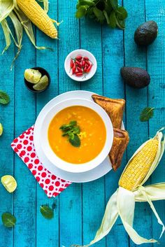 Sweet potato and corn soup and friends   The Hungry Australian