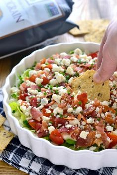 Wedge Salad Dip | Lemon Tree Dwelling. I wouldn't use blue cheese, maybe an aged cheddar.