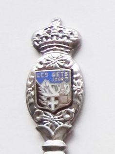 Collector Souvenir Spoon France Les Gets Rhone-Alpes Haute-Savoie Coat of Arms