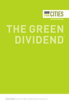 "The Green Dividend: Americans could earn a ""Green Dividend"" of $31 billion a year by driving just one mile per day less than they do now. Less driving means more money in the hands of local consumers; unlike spending on automobiles and fuel — most of which leave the local community immediately—alternative spending can have a much bigger local economic impact."