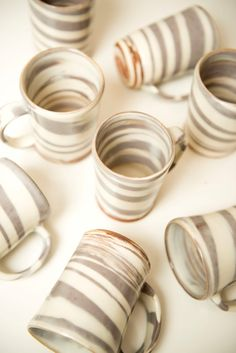 Marble Agateware Hot Chocolate Mugs by ChuckTheStudioPotter