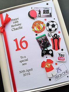 PERSONALISED 13th 14th 15th 16th BIRTHDAY CARD FOR BOYS Son Grandson Gift Boxed