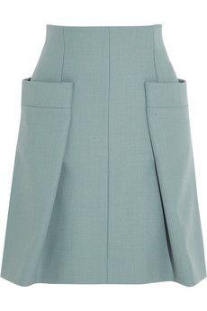Chloé Woven A-line skirt   NET-A-PORTER
