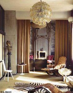 Interior design by Carlo Mollino. #design #interiordesign #homedecor #decorate #interior
