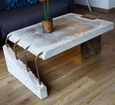 "661 gilla-markeringar, 18 kommentarer - Stephan Schmitz (@adortable) på Instagram: ""I built this coffee-table because I like the combination of old wood and concrete. . . Diesen…"" #coffeetable"
