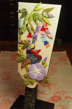 Decoration of Star festival -Chirimen fabric