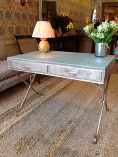 Thinking about upcycling a sofa table to rose gold