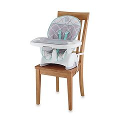 The Deluxe SpaceSaver High Chair by Fisher-Price offers all the features of a full-size high chair, but in a compact design that straps easily to any dining chair. Its 3-position recline seat and 5-point harness ensure superior comfort and safety.