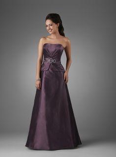 A-line Soft Sweetheart Ruched Beaded Waistband Taffeta Evening Dress-soe0056, $174.95