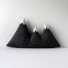 the Sisters - wool mountain range pillow. $50.00, via Etsy.