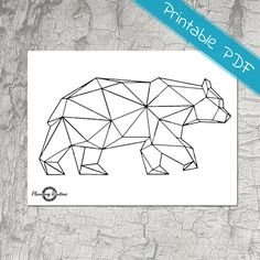 Bear Animal Printable Geometric Art Geometric Bear String