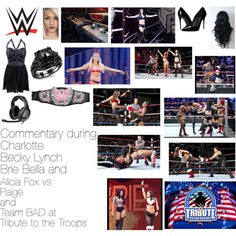 Commentary during Charlotte, Becky Lynch, Brie Bella, and Alicia Fox vs Paige and Team BAD at Tribute to the Troops