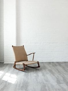 The Yuragi Rocking Chair. A handmade Japanese zaisu in oak or walnut with Danish styling. Shop now!