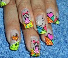 Uñas Decoradas #AndryRegiino Ruby Nails, Funky Nail Art, Creative Nails, Nail File, Nail Arts, Spring Nails, Hair And Nails, Nail Art Designs, Blog