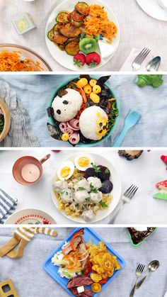 Kids lunches aren't all sheet pizzas and PB&Js. From Swedish meatballs to rice balls, here are 4 lunches from around the globe. Japanese Bento Box, Japanese Dinner, Lunch Recipes, Baby Food Recipes, Sheet Pizza, Taste Made, Rice Balls, Mixed Fruit, Mini Foods