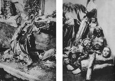 005.jpg - A la izq. imagen lapidada del Sagrado Corazón, iglesia de Sta. María en Baena (Córdoba). A la derecha, imágenes mulitadas en el cementerio de Salobreña (Granada).