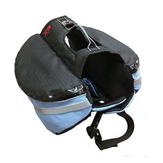 AZLife Adjustable Lightweight Dog Backpack Saddle Gear Bag for Traveling Camping HikingBlue * More info could be found at the image url.