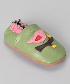 Take a look at this Green Bird Booties - Kids by Helene's Closet on #zulily today!