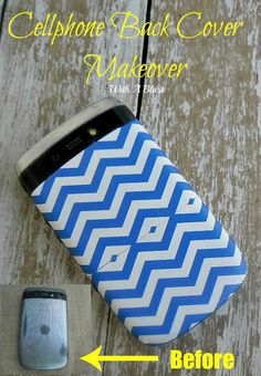 Cellphone Back Cover Makeover ~ How to update your cellphone's back cover in under 10 minutes easily #DuctTape #Crafts www.withablast.net
